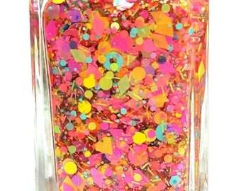 Ring Pops -  handmade neon glitter nail polish