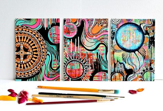 "Postcard set ""REINVENTION"" - set of 3 cards, art postcard, special postcard, mail art"