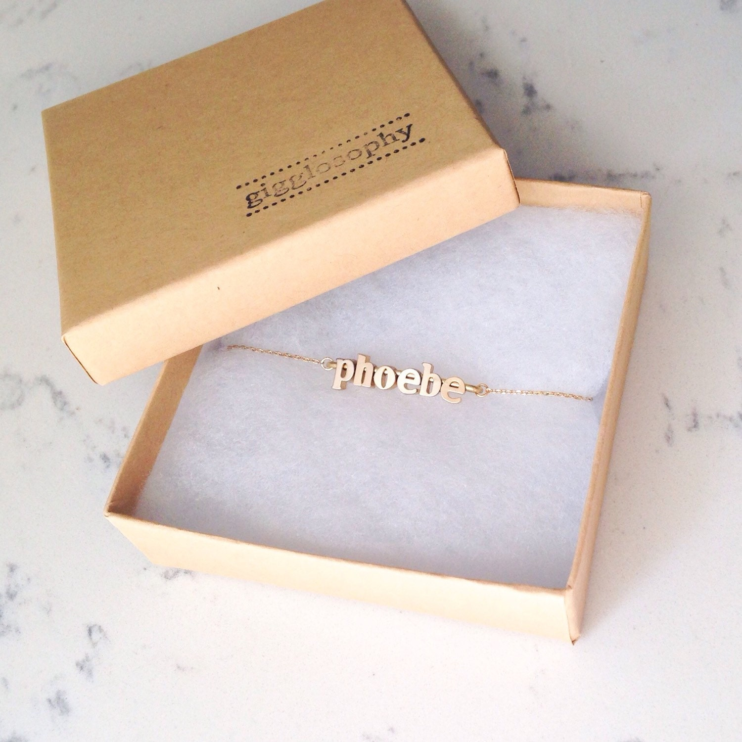 name chain bracelet // silver or gold