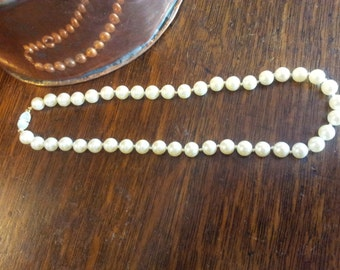Vintage Monet pearl necklace, wedding, bridal, Mothers day gift.