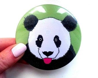 Panda Pocket mirror, panda gift, gift for her, giant panda, panda gift