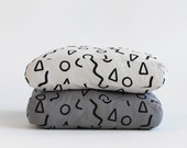 Shapes Pattern Floor Cushion - Modern Dog Bed - Pouf Cover - Kiddies Room Floor Cushion -