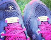 Small Shoe Tags, Custom Shoe Tag, Handstamped Shoe Tags, Workout Motivation, Running Shoes, Fitness Motivation, Ironman, Triathlon, Runners