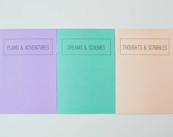 Jot It Down 3 Pastel Recycled A5 Notebook Set
