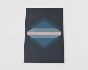 Abstract Geometric Recycled A5 Notebook