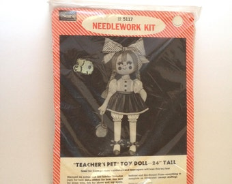 "Teachers Pet Toy Doll Needlework Kit 24"" tall Doll Craft Kit Childrens Doll Stuffed Doll New Sealed"
