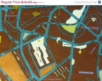 CLEARANCE Map of Berlin in wine by Marie Jacobi for Yuwa of Japan