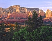 Sedona landscape photo card