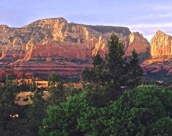 Sedona landscape photo card
