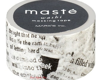 Newspaper Japanese Washi Tape Masking Tape Deco Tape  (MST-MKT34-A) Price depends on order volume.Buy other items together for BETTER price.
