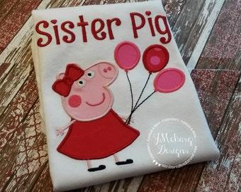 Peppa Pig Birthday Custom Tee Shirt - Customizable -  Infant to Youth 127