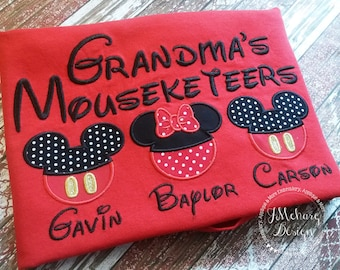 Gorgeous Custom embroidered Disney Mousketeers Shirts for the Family! 998