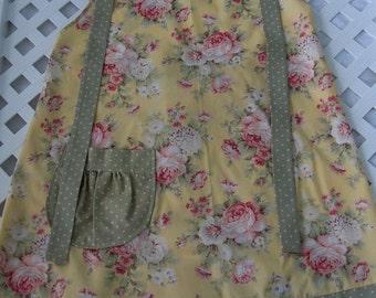 Yellow flowered apron