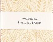 "FIRE & ICE Batiks from  Moda - 40 5"" batik fabric squares"