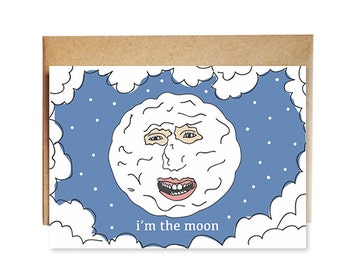I'm The Moon Mighty Boosh Card