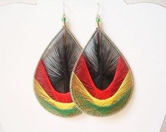 Peruvian Thread earrings Rastafarian earring Assorted Styles