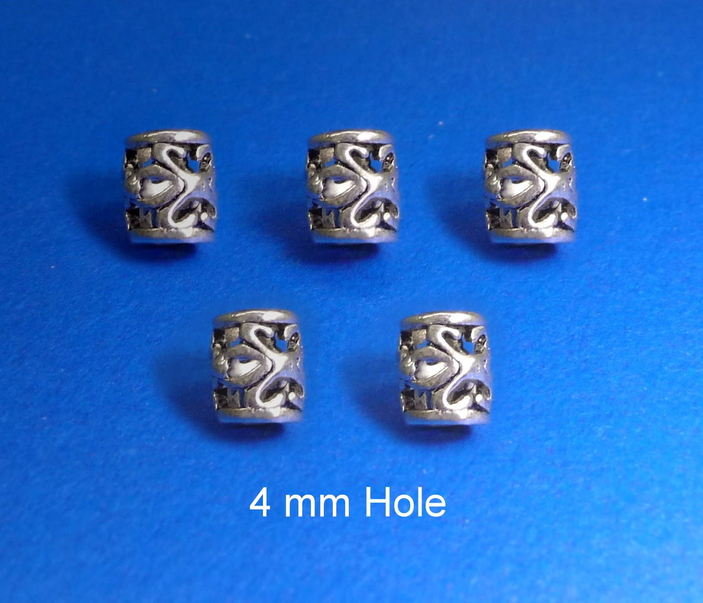 6x4mm hole DREADLOCK BEADSBeard ring Hair Beadsviking