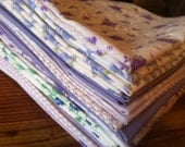 Lavender and Purple Cloth Napkins - Set of 12, 17 inch, by CHOW with ME