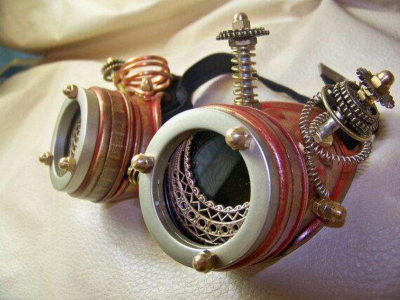 Steampunk Goggles Engineer by WarFireForge on Etsy