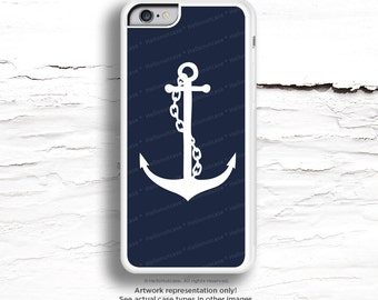 iPhone 6S Case, iPhone 6S Plus Case Anchor, iPhone 5s Case Navy, Rubber iPhone 6 Plus Case, Blue iPhone Case, Navy iPhone Cover C40