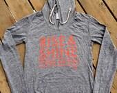Women's Running Hoodie - Rise & Shine Today We Run - Medium