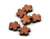 Laser Cut Supplies-8 Pieces.Daisy Charms - Laser Cut Wood Flower -Earring Supplies- Little Laser Lab Sustainable Wood Products