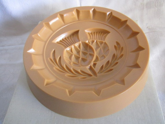 Reversable Shortbread Cooky Mould Or Mold Thistle Cookie Press