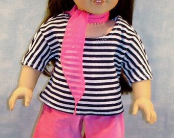 18 Inch Doll Clothes - Frenchy Outfit Pink made by Jane Ellen to fit 18 inch dolls