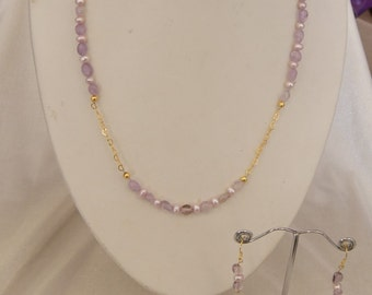 Amethyst and Lilac Pearl Set