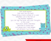 INSTANT DOWNLOAD - Bring A Book Instead of a Card Baby Shower Invitation Insert