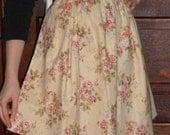Floral Half-Apron, Hostess Apron, Retro Apron, Tea Apron, Vintage-Inspired Girls' or Ladies' Apron