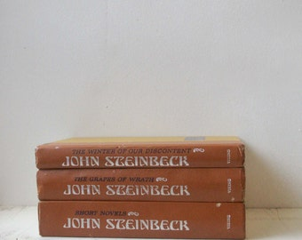 John Steinbeck The Grapes of Wrath, set of three books, instant collection