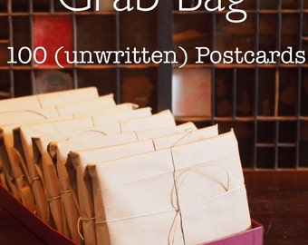 FREE SHIPPING- 100 unused postcards Grab Bag - HUGE lot - Postcrossing starter kit