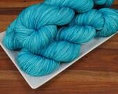 Inlet on Hornbeam 100, Merino/Silk Fingering Weight Hand-dyed Yarn