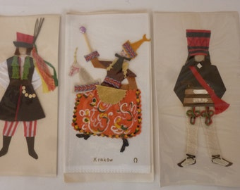 Vintage Greeting Cards Souvenir of Poland 1950's Polish Folk Costumes Suitable for Framing