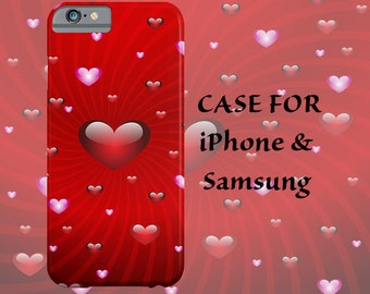 iPhone case red hearts iPhone 6 case iPhone hearts case Galaxy red hearts case modern heart case iPhone 6 plus case iPhone 5s case iPhone 5c