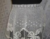 Two Vintage Crochet Aprons