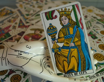 rare mint MULLER vintage tarot cards Kaplan 78  FORTUNE TELLING halloween metaphysical new age reading antique Tarot cards spooky card etsy