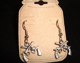Double gun earrings