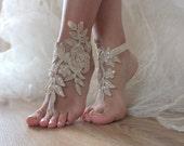 Free Ship  bridal anklet, gold embrodeired, Beach wedding barefoot sandals, bangle, wedding anklet, anklet, bridal, wedding