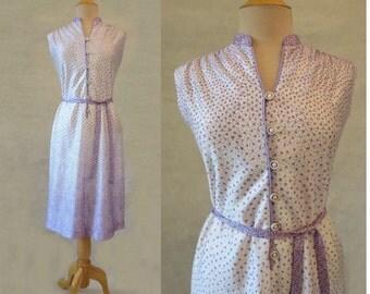 Mauve Floral Dress -1960s