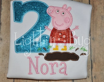 Peppa Pig Muddy Puddles birthday shirt birthday