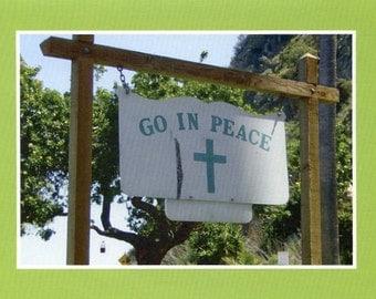 Go in peace - photo card