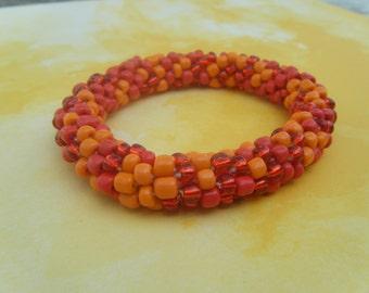 Hot Bead Crochet Bracelet