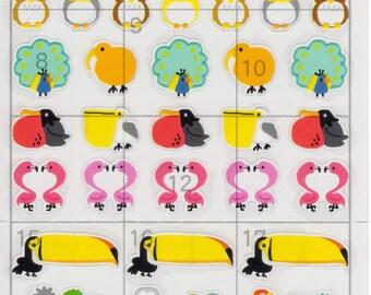 Japan Mind Wave kawaii BIRDS schedule sticker sheet/77098