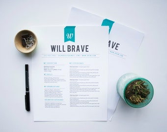 Instant Download Resume & Letterhead Template / The Will
