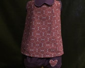 Sunny Days dress and short set in purple. Fun two piece outfit for toddlers who like to play!
