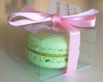25 units of Clear Macaron Box for 1 Macaron