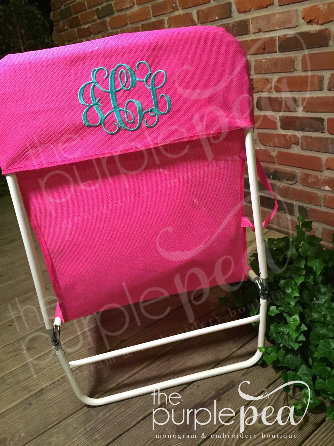 Monogrammed Beach Chair Adult