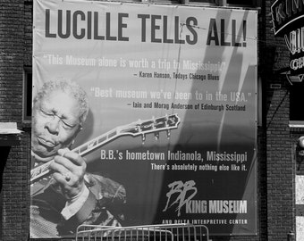 Lucille Tells All, Fine Art Photography, Music Inspired Photographs, Blues, B. B. King, Black and White Photograp